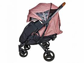 Прогулянкова Коляска Yoya Plus Max 2021 Пурпурно-рожевий рама чорна