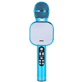 Беспроводной караоке микрофон Wster DM Q009 Голубой
