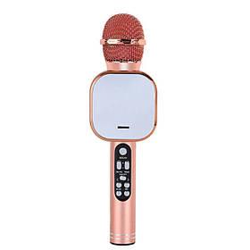 Беспроводной караоке микрофон Wster DM Q009 Розовое золото