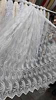 Тюль кордовая короткая на метраж в кремовом цвете, 1,5м ( 3099 kr), фото 2