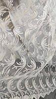 Тюль кордовая короткая на метраж в кремовом цвете, 1,5м ( 3099 kr), фото 3