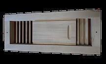 Вентиляційний шибер для лазні, сауни (липа).