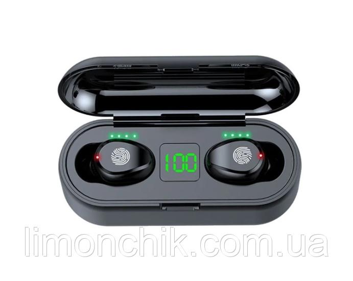 Беспроводные вакуумные блютуз наушники True Wireless Headset F9 с шумоподавлением