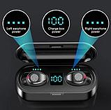 Беспроводные вакуумные блютуз наушники True Wireless Headset F9 с шумоподавлением, фото 3