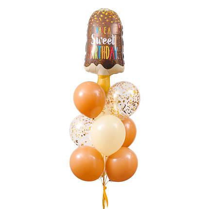 """Зв'язка повітряних кульок з морозивом """"Have a sweet birthday"""", фото 2"""
