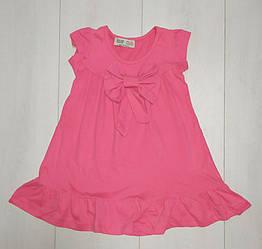 Платье для девочки с коротким рукавом, однотонное ТМ Paty Kids (размер 1-2лет.)