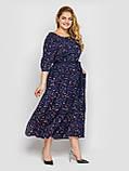 Плаття в підлогу синє Снежанна, фото 2