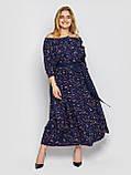 Плаття в підлогу синє Снежанна, фото 4
