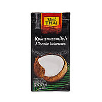 Кокосове молоко (85% екстракт кокоса) Real Thai UHT 1 л, фото 1