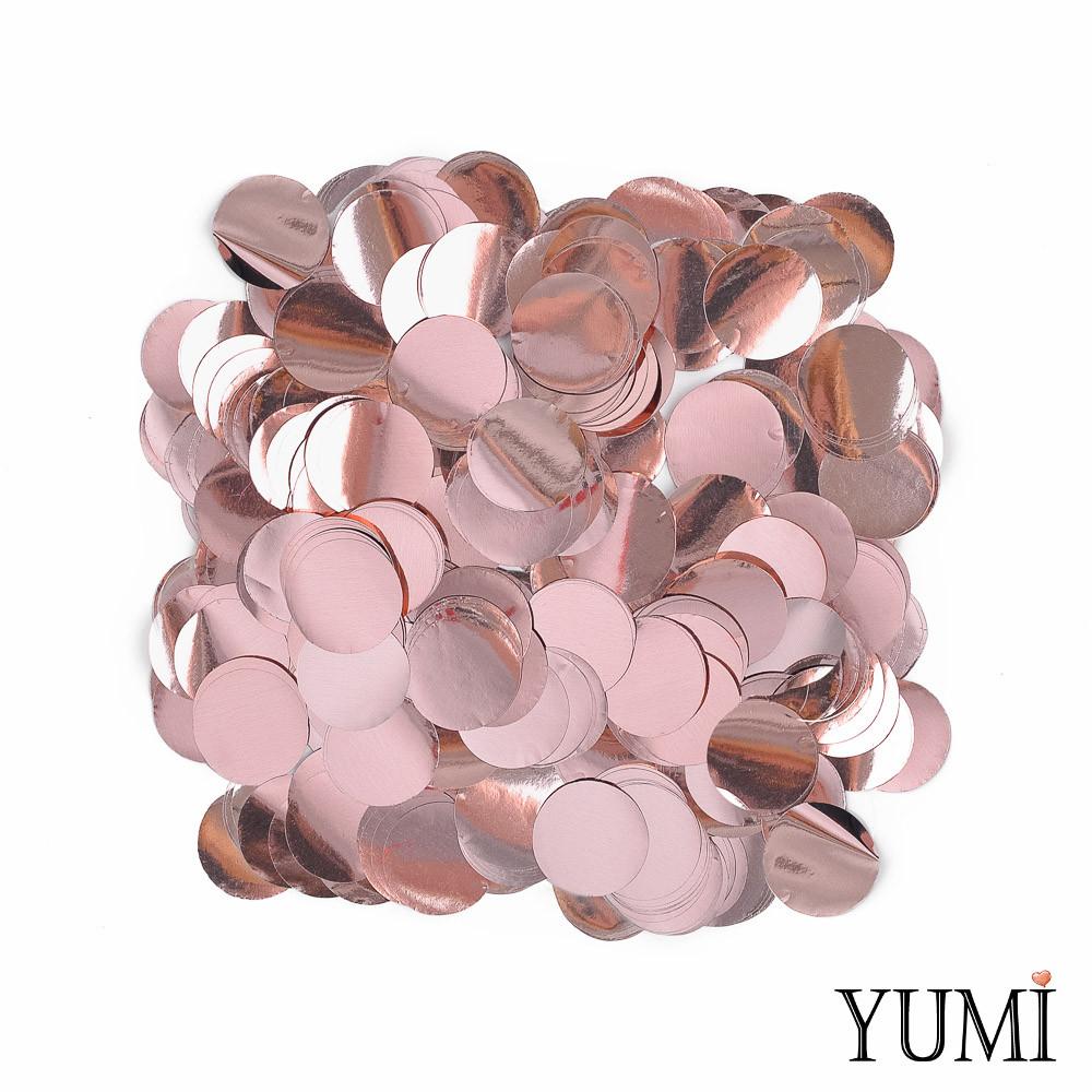 Конфетті кола рожеве золото, 23 мм (50 г)