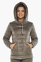 Женская куртка Braggart на молнии осенне-весенняя капучиновая модель 61030