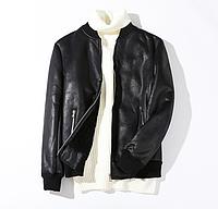 Мужская кожаная куртка 3XL COOK&CO черная. (1114963)