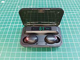 Наушники беспроводные LED Display Power Bank TWS F9-8
