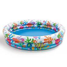 """Дитячий надувний басейн Intex """"Акваріум"""" 59431 NP 3 кільця, розміром 132*28см, 248 л"""