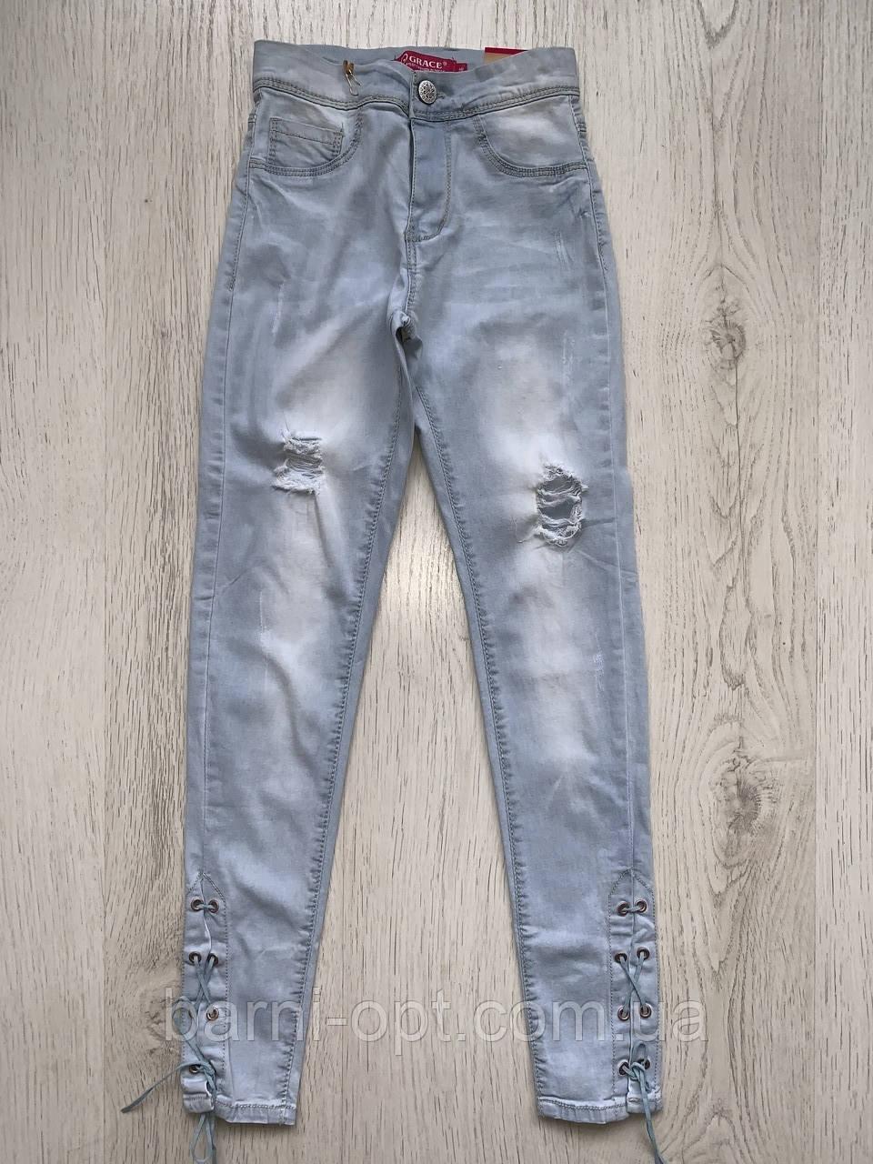 Джинсові брюки для дівчаток оптом, Grace , 140-170 рр.