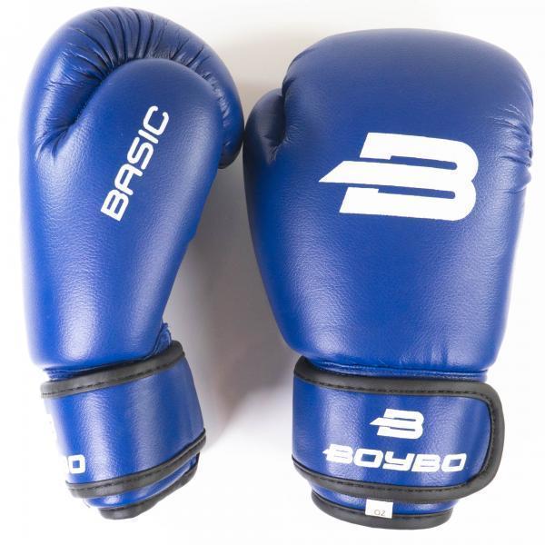 Перчатки боксерские синие 12 унций BoyBo Basic к/з 12 OZ SF1-44-12