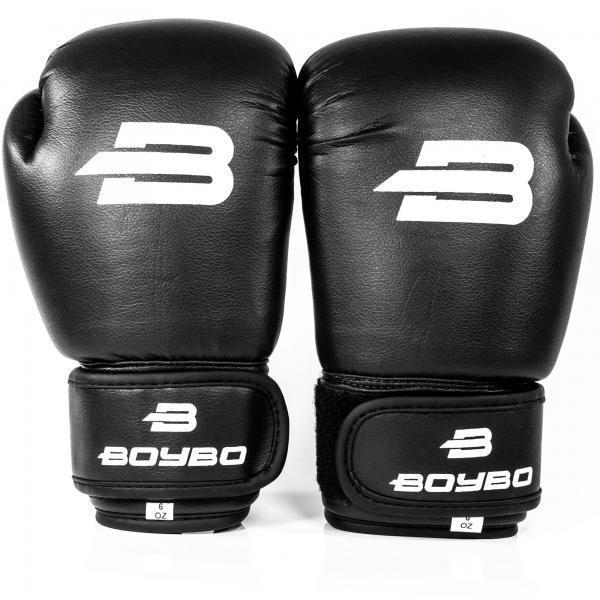Перчатки боксерские чёрные 10 унций BoyBo Basic к/з 10 OZ SF1-45-10