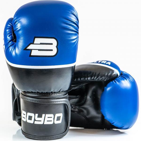 Перчатки для бокса и единоборств 8 унций BoyBo Ultra к/з 8 OZ синие SF5-44-08