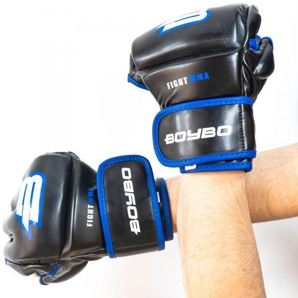 Перчатки ММА BoyBo Challenger Flex синие XL SF12-74-5