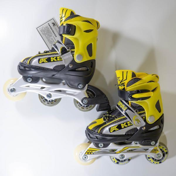 Роликовые коньки KEPAI желтые SS-CHIN-SK-960 30-33 жел