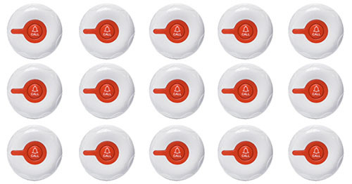 Фото: кнопки виклику персоналу RECS R-300 - 15 штук - комплект системи виклику RECS №175