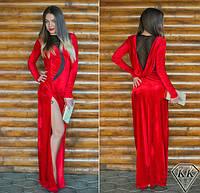 Красное платье 152040 в пол