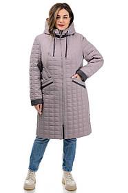 Демисезонная куртка удлиненная стеганная размеры 50-60