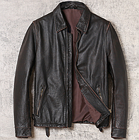 Мужская кожаная куртка Urban M черная. (01350)