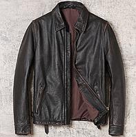 Мужская кожаная куртка Urban L черная. (01350)