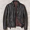 Мужская кожаная куртка Urban 2XL черная. (01350)