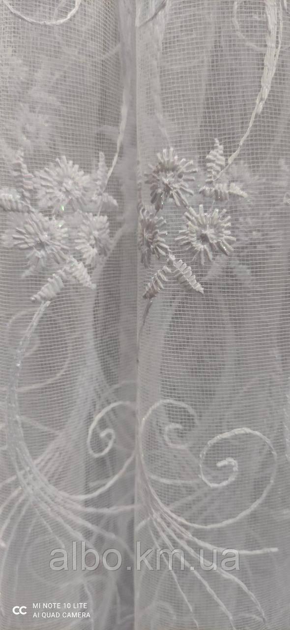 Фатиновый тюль с кордовой ниткой на метраж, высота 1,5м (RB291)