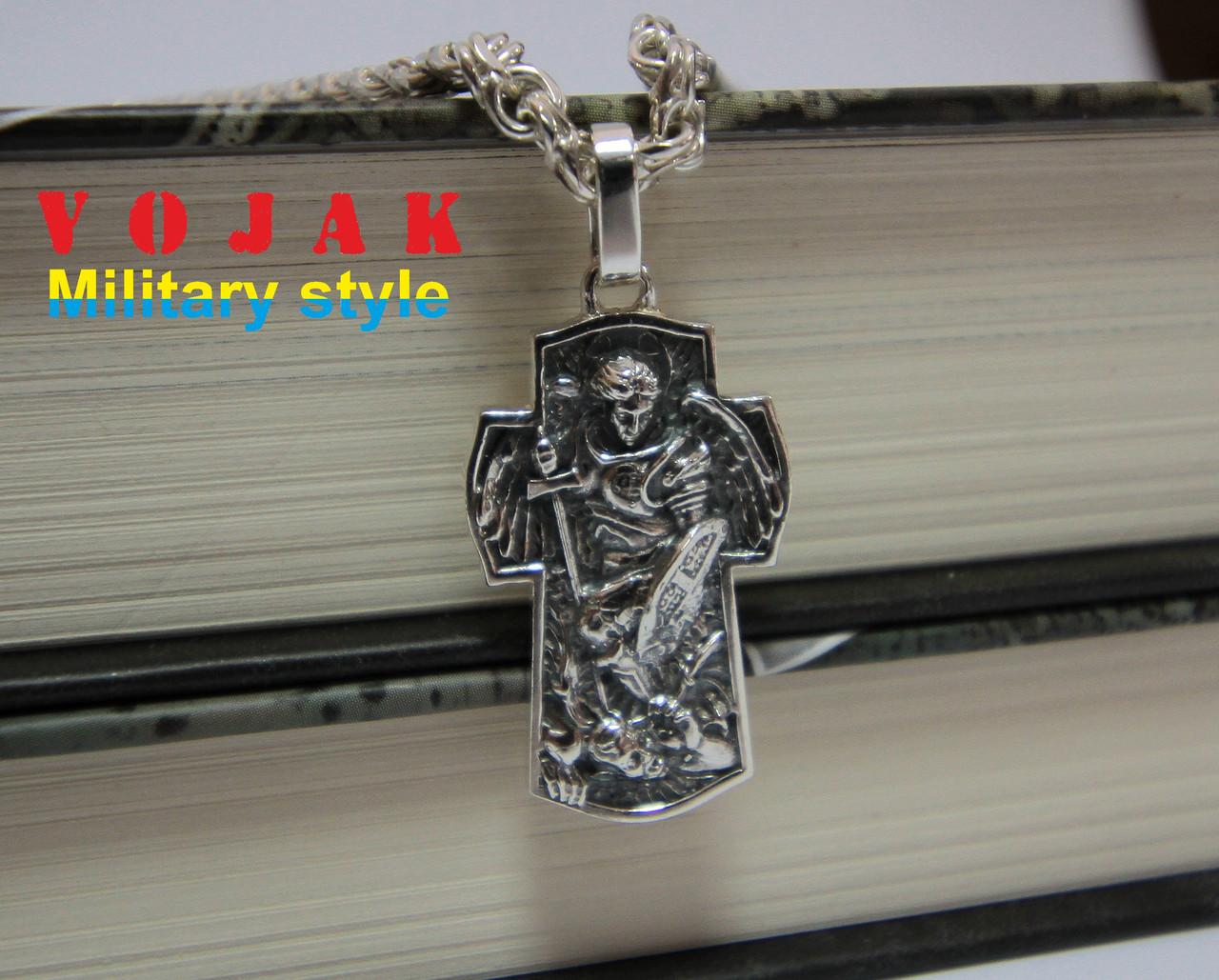Кулон серебряный Архангел Михаил
