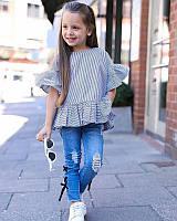 Детский костюм с джинсами для девочки, размеры 90, 100, 120