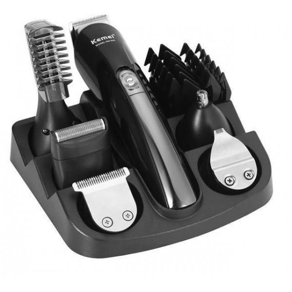 Професійний набір для стрижки волосся KEMEI KM-600 11 в 1
