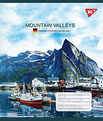 Зошит А5/60 кл. YES Mountain valleys, 10 шт/уп.