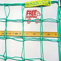 Сетка для футбола повышенной прочности «СТАНДАРТ-ДИАГОНАЛЬ» зеленая (комплект из 2 шт.)