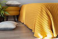 В'язаний плед Комільфо жовтий 170х210 OS-1408