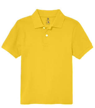 Футболка поло однотонная детская, цвет желтый