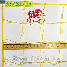 Сетка на ворота футбольная сетка для ворот «ЭКОНОМ-ДИАГОНАЛЬ» желтая (комплект из 2 шт.)