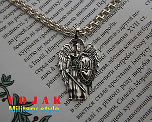 Кулон срібний Янгол з мечем і щитом