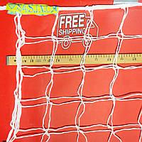 Сетка футбольная повышенной прочности «СТАНДАРТ 1,5» белая (комплект из 2 шт.)