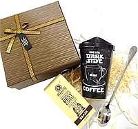 Кофе подарочный набор Кофейный презент чашка + кофе + ложка, фото 1
