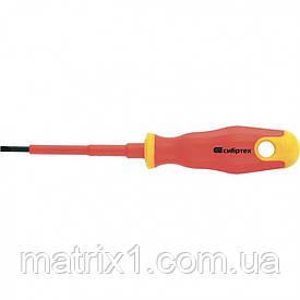 Отвертка диэлектрическая SL3 х 75 мм, CrV, до 1000 В, двухкомпонентная рукоятка Сибртех