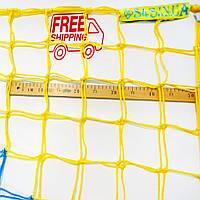 Сетка для футбола повышенной прочности «ЭЛИТ 1,5» желто-синяя (комплект из 2 шт.)