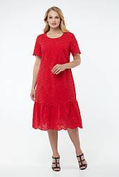 Платье ТМ ALL POSA Татьяна красный 50 (100158)