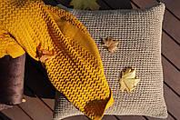 В'язаний плед Комільфо 200х240 жовтий OS-0465