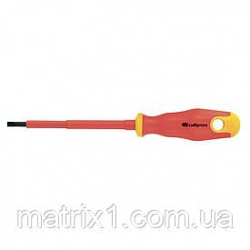 Отвертка диэлектрическая SL5,5 х 125 мм, CrV, до 1000 В, двухкомпонентная рукоятка Сибртех