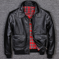 Мужская кожаная куртка Urban L черная. (01322)
