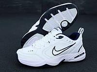 Мужские кроссовки Nike Air Monarch (белые) K11888 стильная обувь 2021