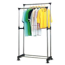 Стойка для одежды напольная Двойная телескопическая вешалка  Double Pole 160х80см DL143